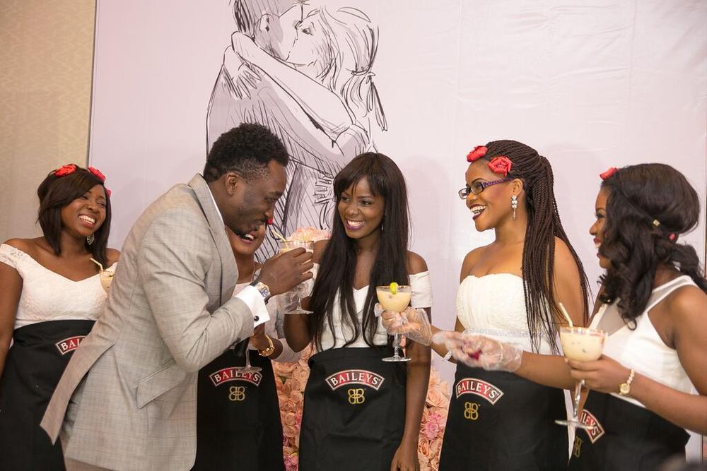 #BBNWonderland brides with Bovi, tasting Baileys