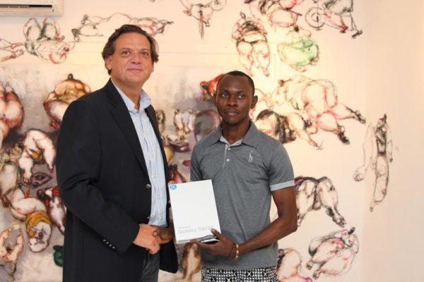 Mr. Emmanouil Revmatas and FIRST PLACE WINNER, OLASUNKANMI ARIYO