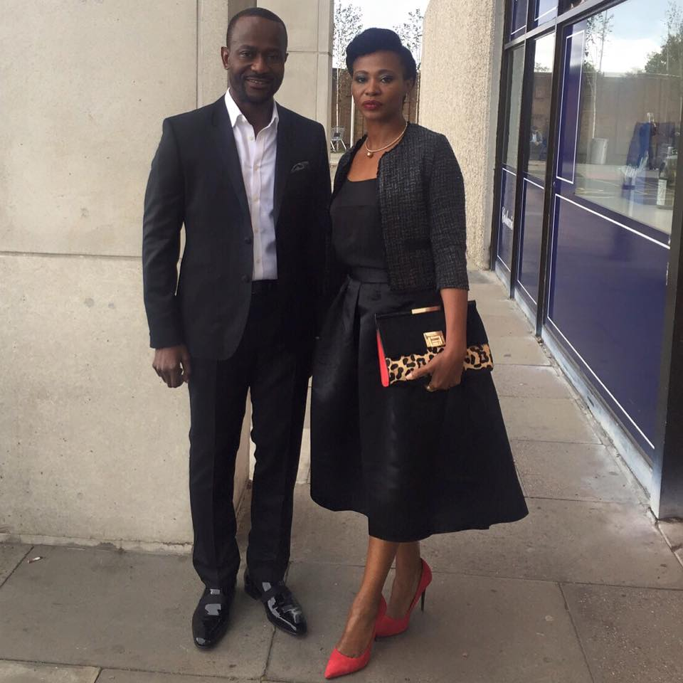 Clifford Sule and Nse Ikpe Etim on the way to the BFI premiere of FIFTY