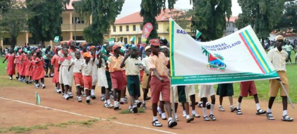 PIC. 6. STUDENTS MATCHING DURING THE 55TH INDEPENDENCE DAY CELEBRATION IN LAGOS ON THURSDAY (1/10/15). 6898/1/10/2015/MA/ BJO/NAN