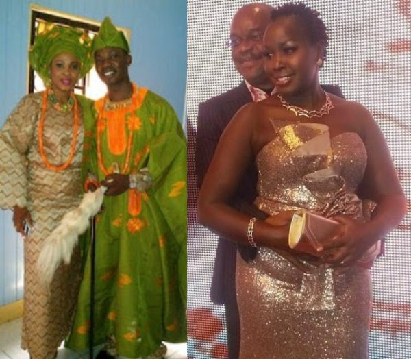 Kikelomo with her ex-husband | Pastor Aslem with his wife Emmy