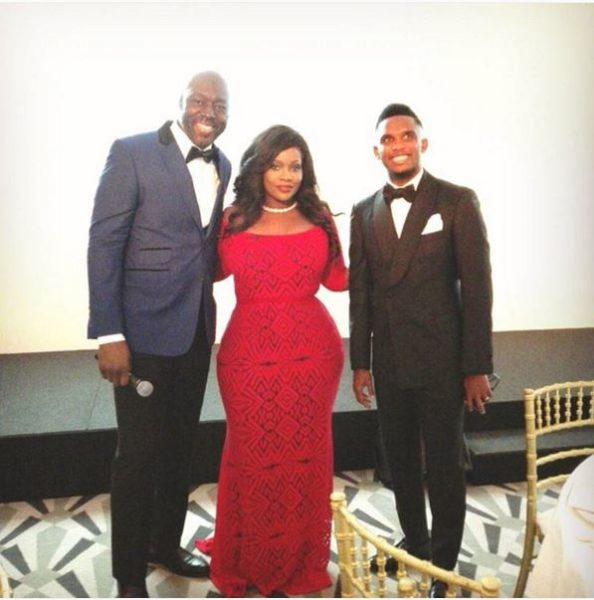 Hosts of the night Robert Brazza, Toolz and Samuel Eto'o