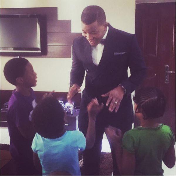 Segun Demuren and his Kids