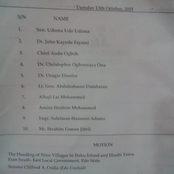 List of Nominees screened today