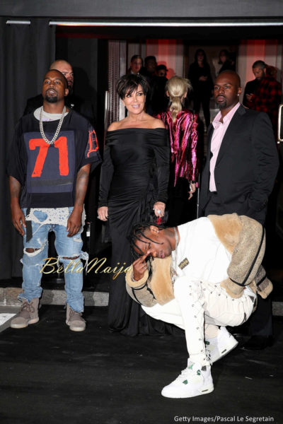 Kanye West, Kris Jenner, Corey Gamble & Travis Scott