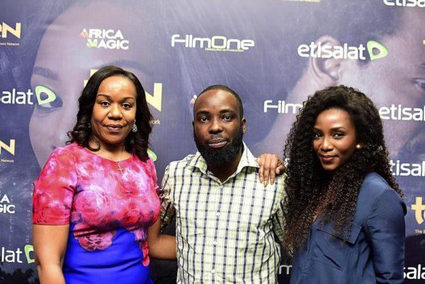 Wangi Mba-Uzoukwu (Regional Director, MnetAfricaMagic), Ishaya Bako (Director), Genevieve Nnaji