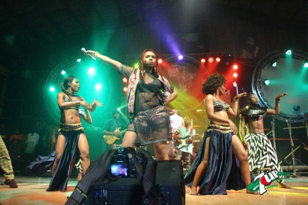 Yemi Alade performing at Felabration