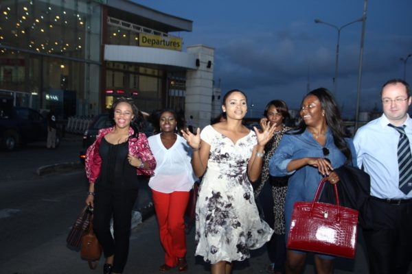 Some of the #BBNWonderland brides arrive Lagos