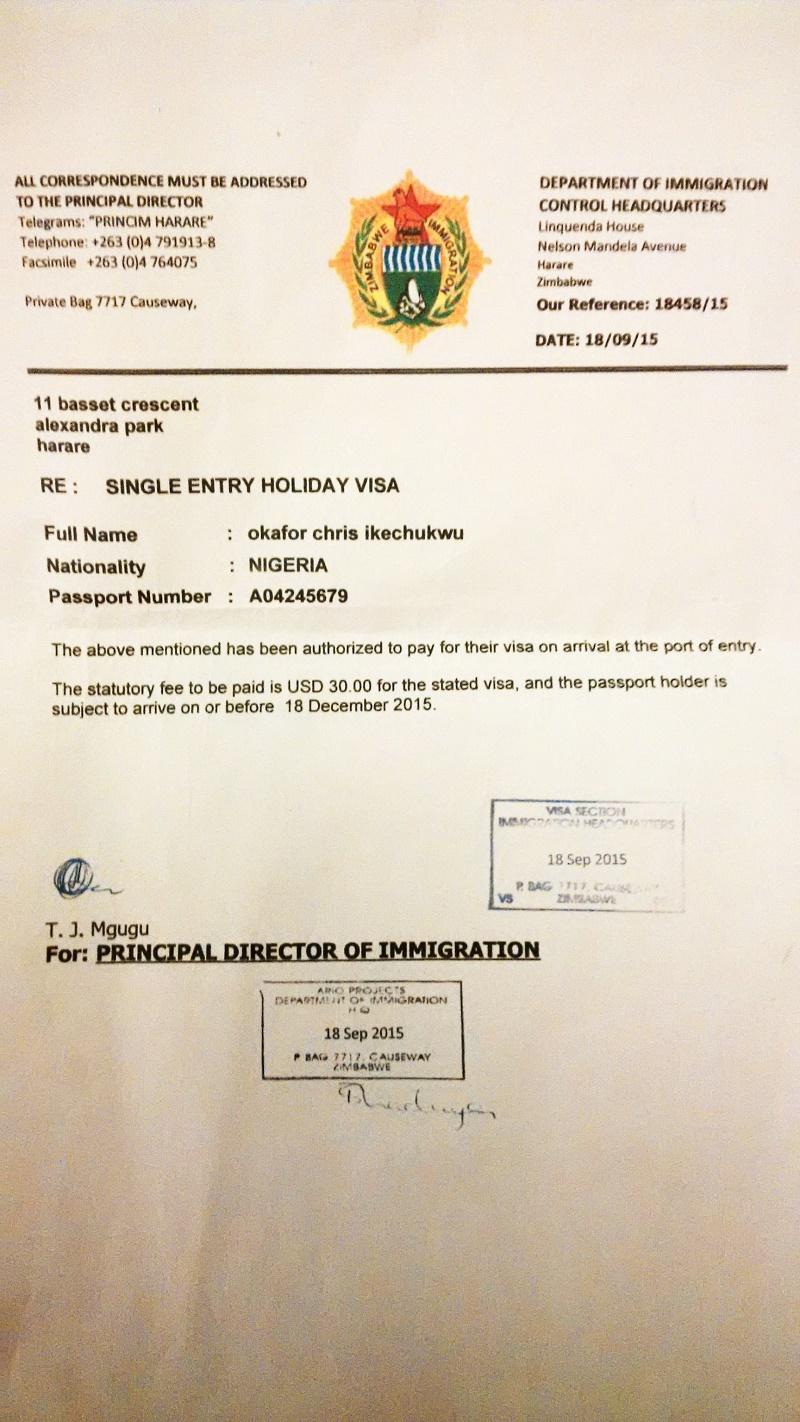Zimbabwe Deports Popular Nigerian Pastor, Dr  Chris Okafor For