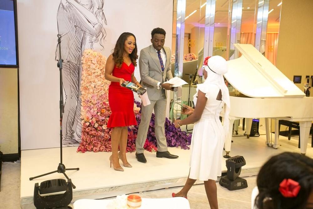 #BBNWonderland Bride Aminat Winning a Selfie Stick from The Gift Haven