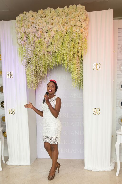 #BBNWonderland bride at Tunnel - the Wedding Guru Decor