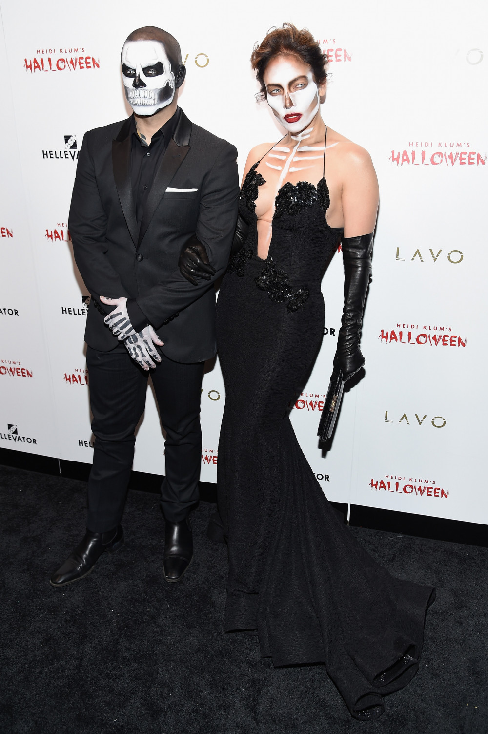 NEW YORK, NY - OCTOBER 31: Casper Smart and Jennifer Lopez attend Heidi Klum's 16th Annual Halloween Party sponsored by GSN's Hellevator And SVEDKA Vodka At LAVO New York on October 31, 2015 in New York City. (Photo by Nicholas Hunt/Getty Images for Heidi Klum)