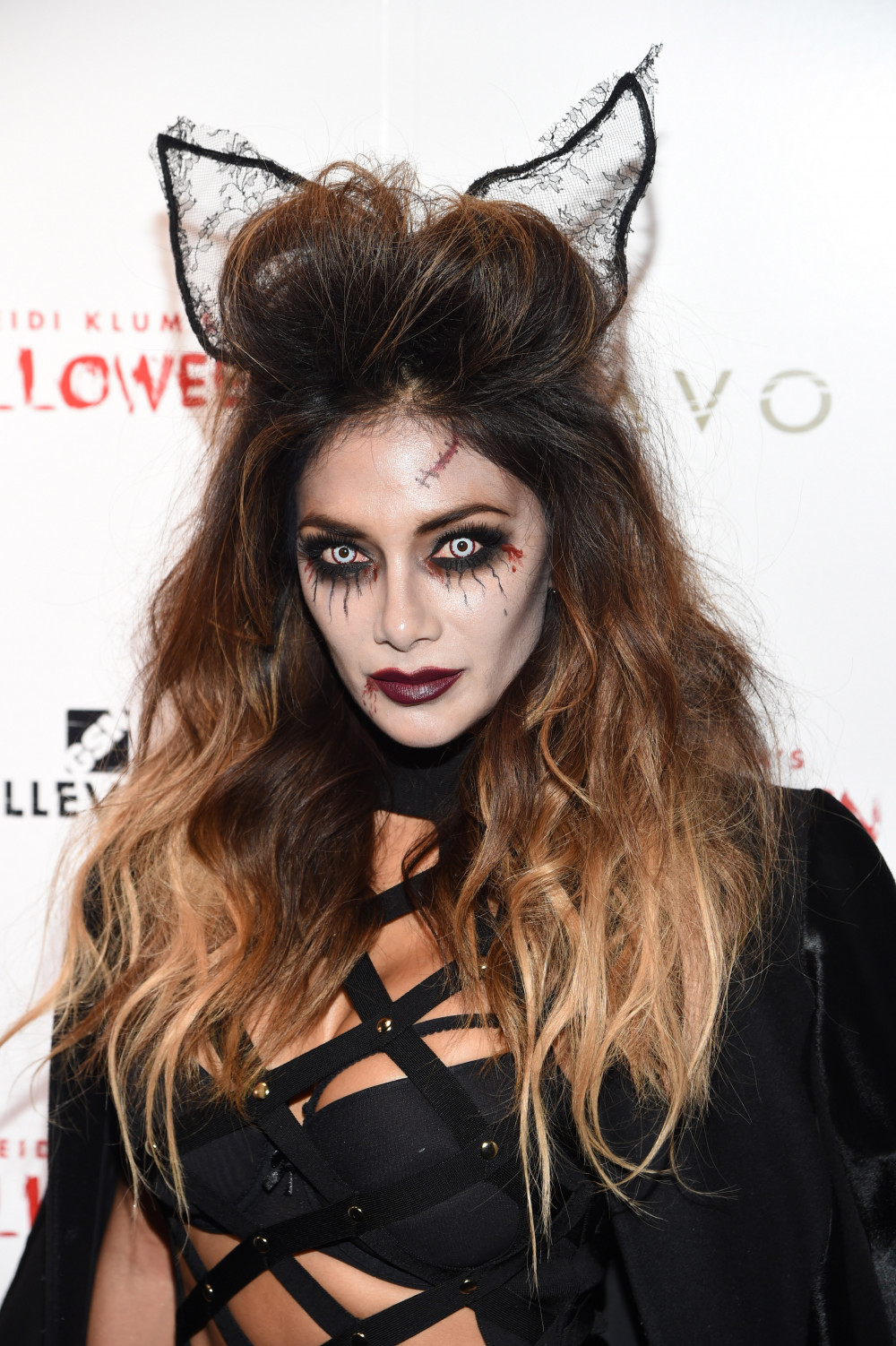 NEW YORK, NY - OCTOBER 31: Nicole Scherzinger attends Heidi Klum's 16th Annual Halloween Party sponsored by GSN's Hellevator And SVEDKA Vodka At LAVO New York on October 31, 2015 in New York City. (Photo by Nicholas Hunt/Getty Images for Heidi Klum)