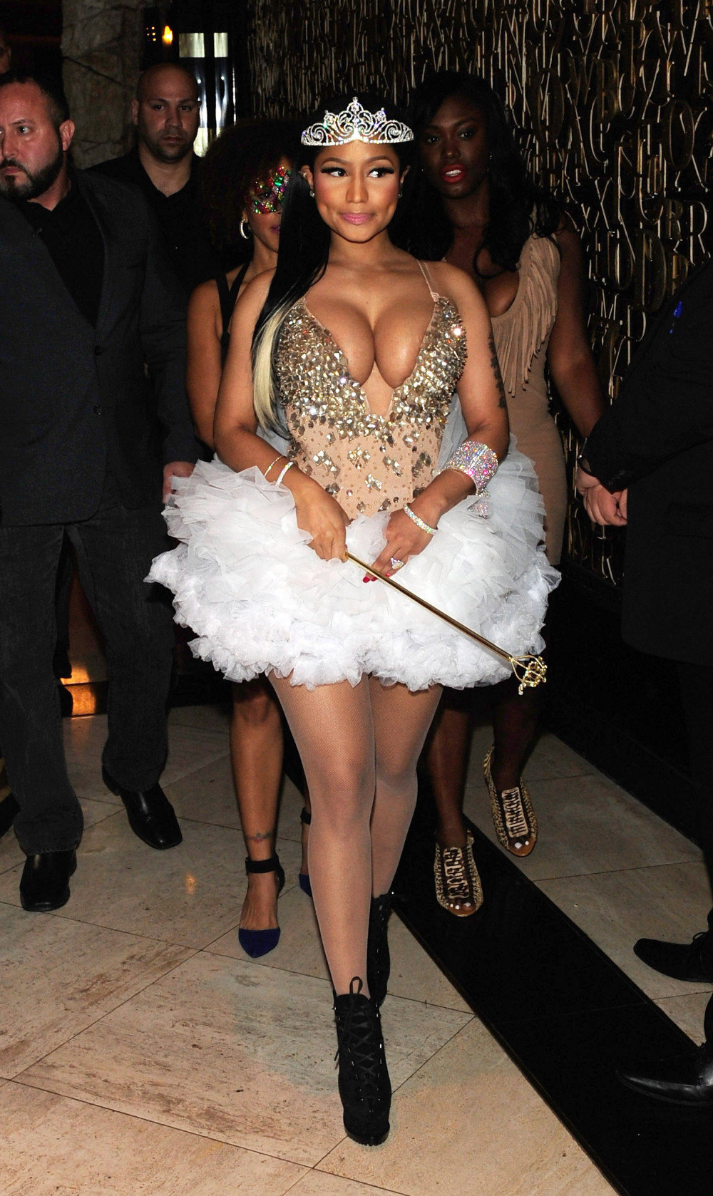 LAS VEGAS, NV - OCTOBER 31: Recording artist Nicki Minaj attends a Haunted Funhouse Halloween party at 1 OAK Nightclub at The Mirage Hotel & Casino on October 31, 2015 in Las Vegas, Nevada. (Photo by Steven Lawton/Getty Images)