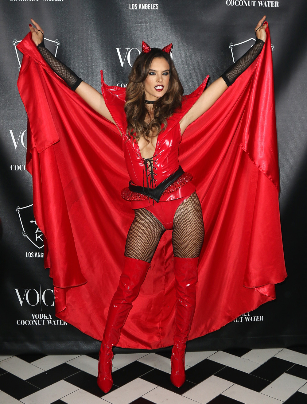 Alessandra Ambrosio attends 'Alessandra Ambrosio's Heaven and Hell Halloween Party' presented By VOCO at 1OAK on October 31, 2015 in West Hollywood, California.