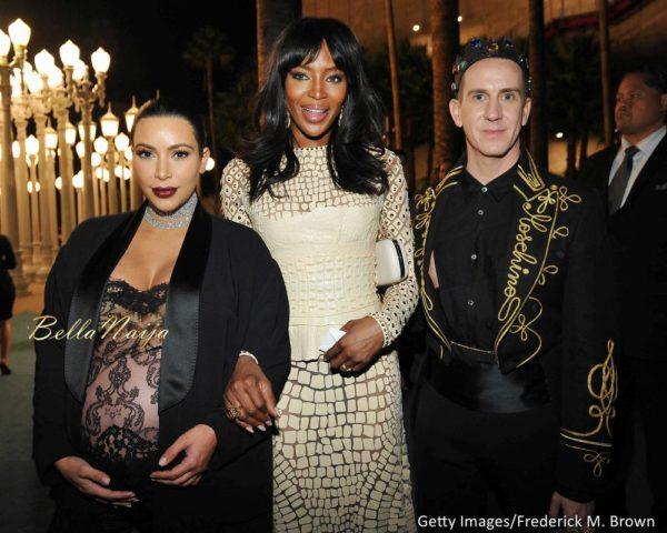 Kim Kardashian West, Naomi Campbell & Jeremy Scott