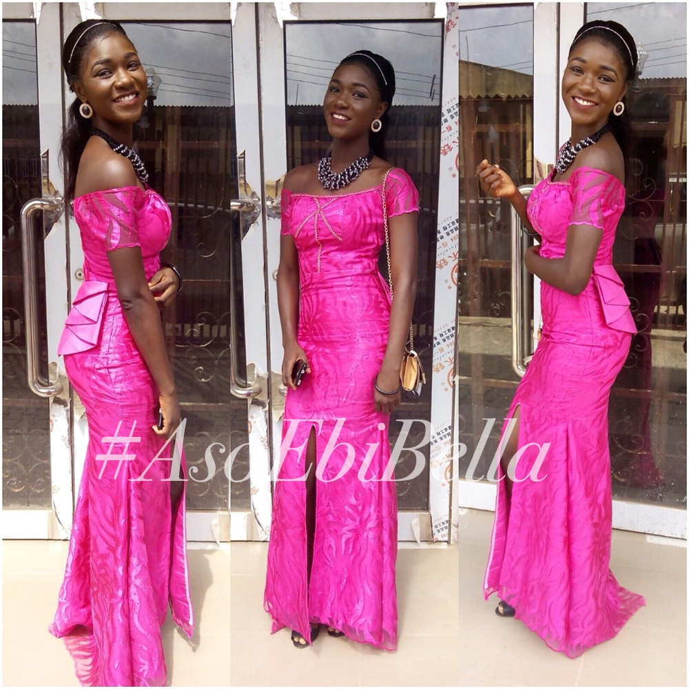 @bibiiire in dress by @damioyeku, Neck candy by @pheranmiii_