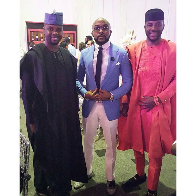 Adebola Williams, Banky W and Ebuka Obi-Uchendu at Tosyn Bucknor & Aurélien Boyer's Wedding