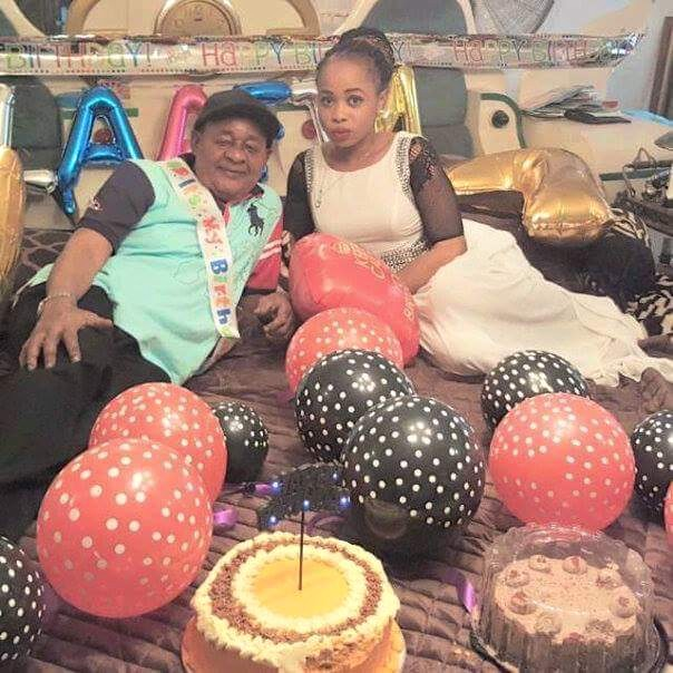 Alaafin of Oyo Oba Lamidi Adeyemi III Birthday 2015 with Olori Badirat Adeyemi