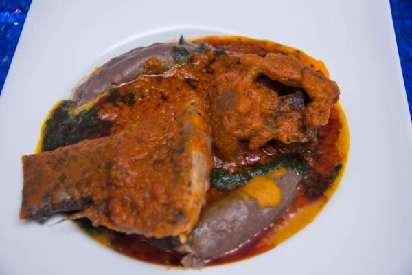 Amala Ewedu Gbegiri and Fish Stew