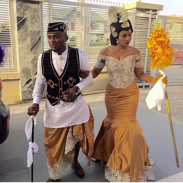 Ubi Franklin with wife Lilian Esoro