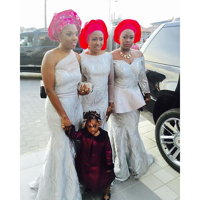Annie Idibia, Stella Michaels and Naomi Michael-Adenuga with Olivia Idibia