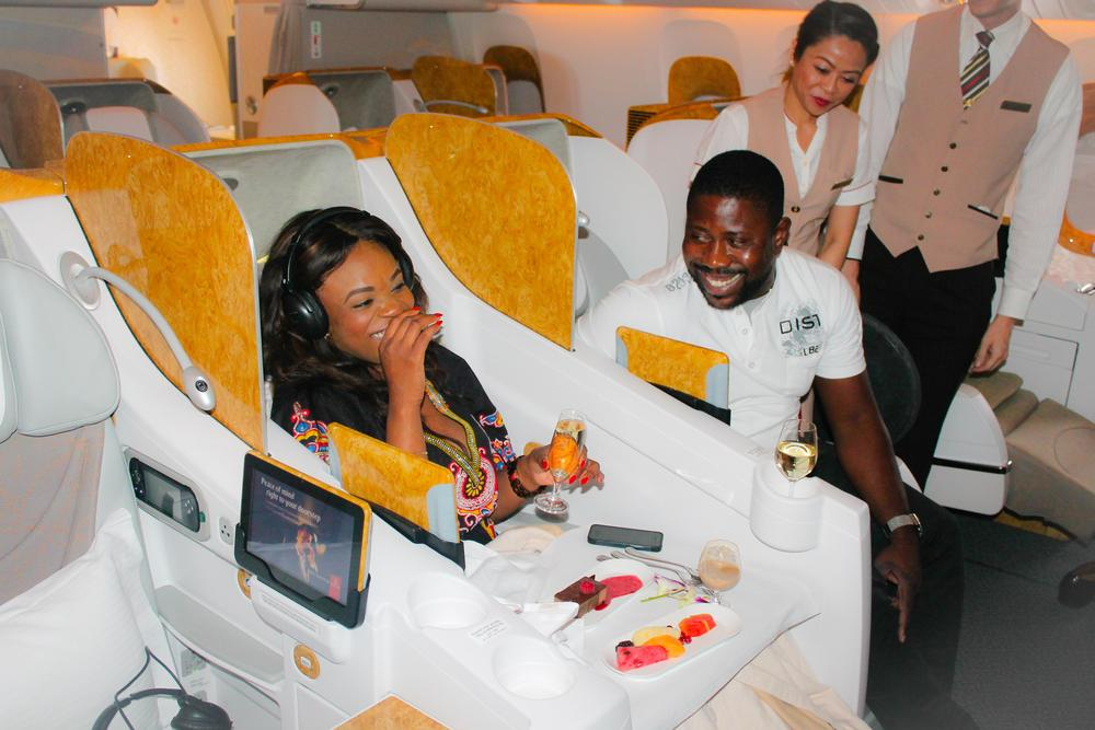 BellaNaija-Emirates-first class plane proposal 3