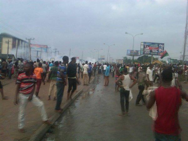 Biafra Protests in Portharcourt 1 BellaNaija