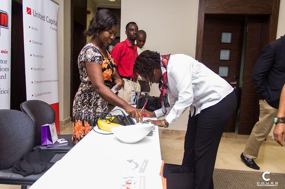 Participants during registration