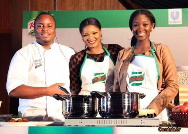 Chef Fregz, Omotola and Meraiah