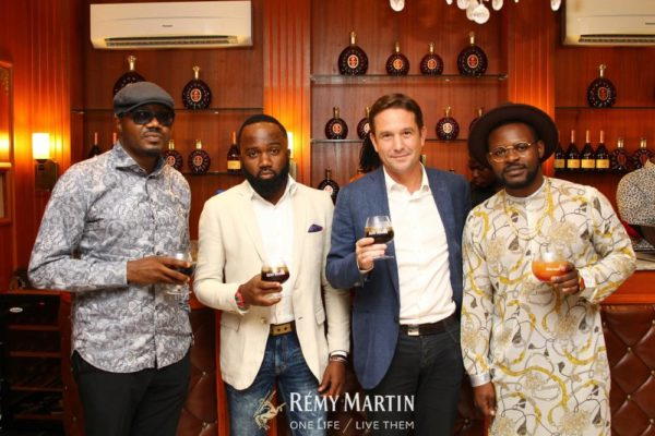 DJ Jimmy Jatt, Noble Igwe, Eric Vallat (CEO Rémy Martin) and Falz