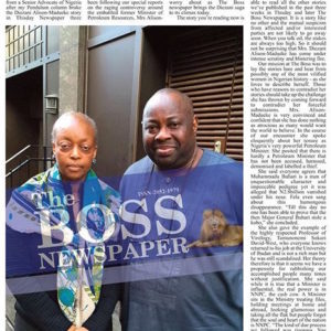 Diezani Alison-Madueke with Dele Momodu on Boss Newspaper 2