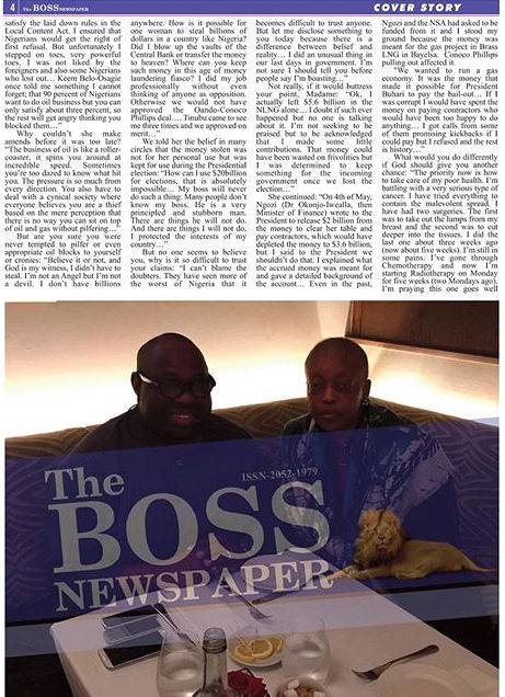 Diezani Alison-Madueke with Dele Momodu on Boss Newspaper 3