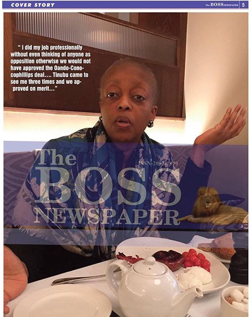 Diezani Alison-Madueke with Dele Momodu on Boss Newspaper 4
