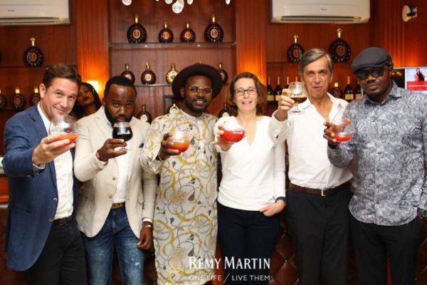 Eric Vallat (CEO Rémy Martin), Noble Igwe, Falz, Valerie Chapoulaud(CEO Rémy Martin Group), Marc Heriard Debreuil (Family Member - Rémy Cointreau Group) & DJ Jimmy Jatt