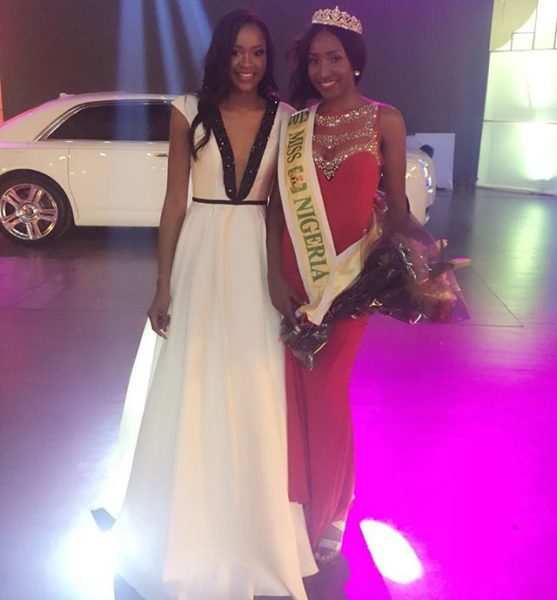 Outgoing Miss Nigeria Ezinne Akudo with the New Queen
