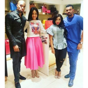 Dilly & Fiffy Umenyiora with Jennifer Obayuwana & Peter Salah