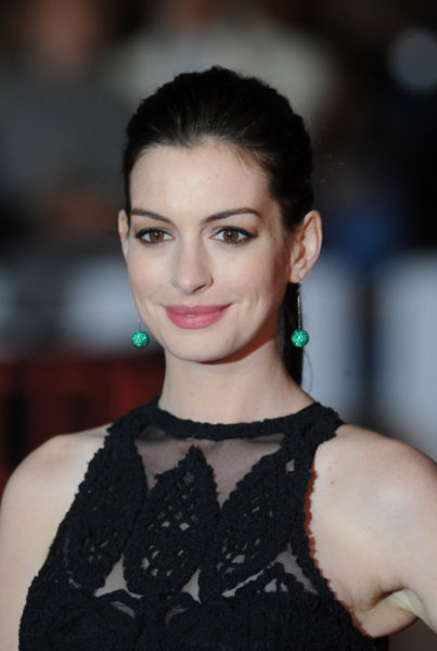 "LONDON, ENGLAND - SEPTEMBER 27:  Anne Hathaway attends the UK Premiere of ""The Intern"" at Vue West End on September 27, 2015 in London, England.  (Photo by Stuart C. Wilson/Getty Images)"