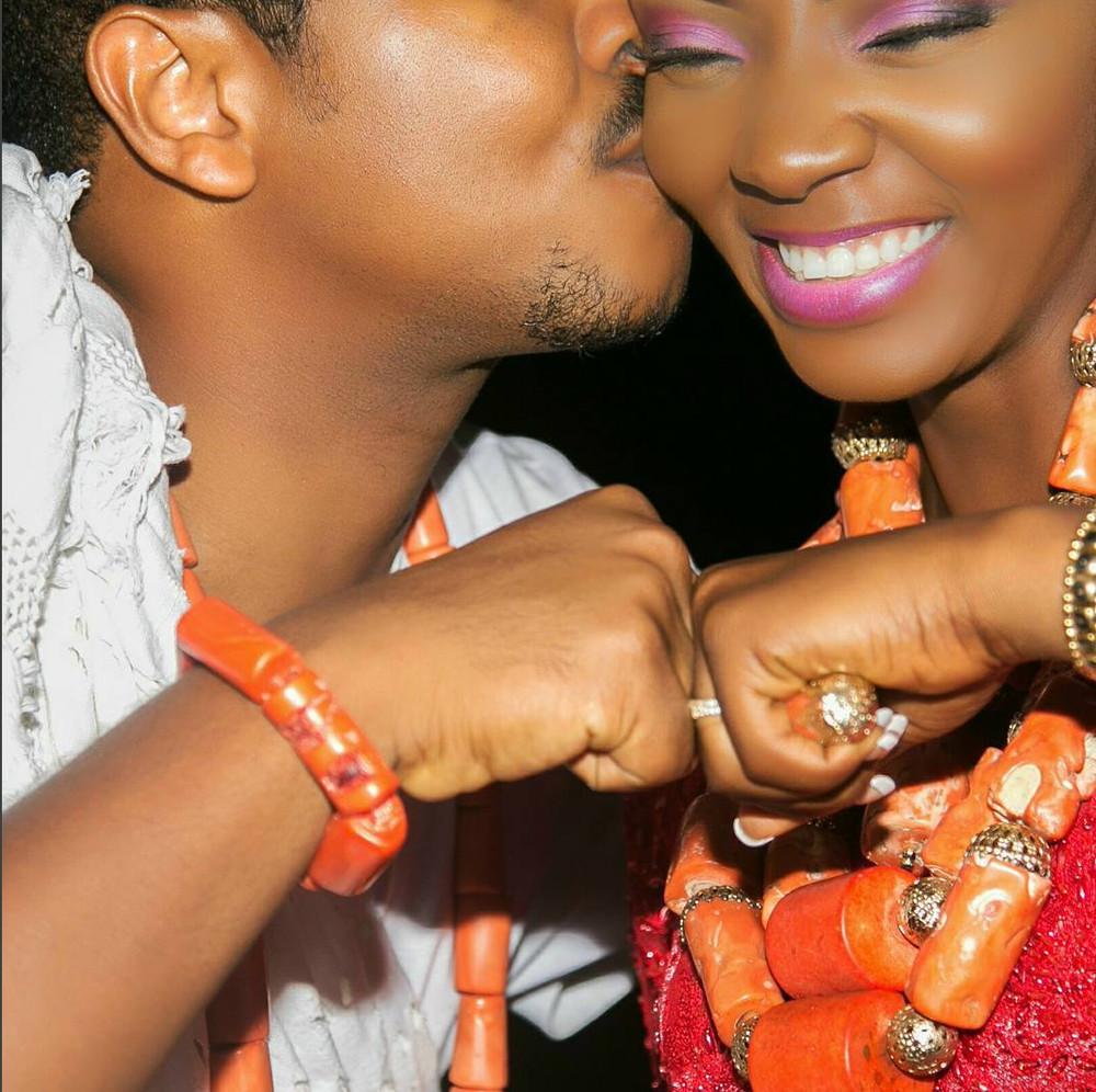 Ivie Okujaye & husband