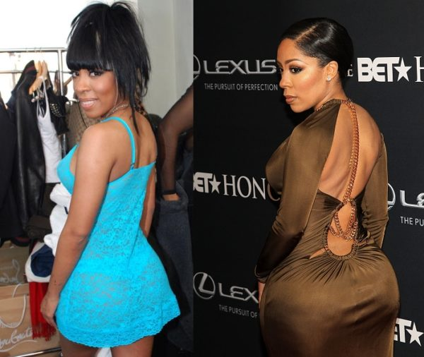 K. Michelle Before (2010) & After her Butt Implants