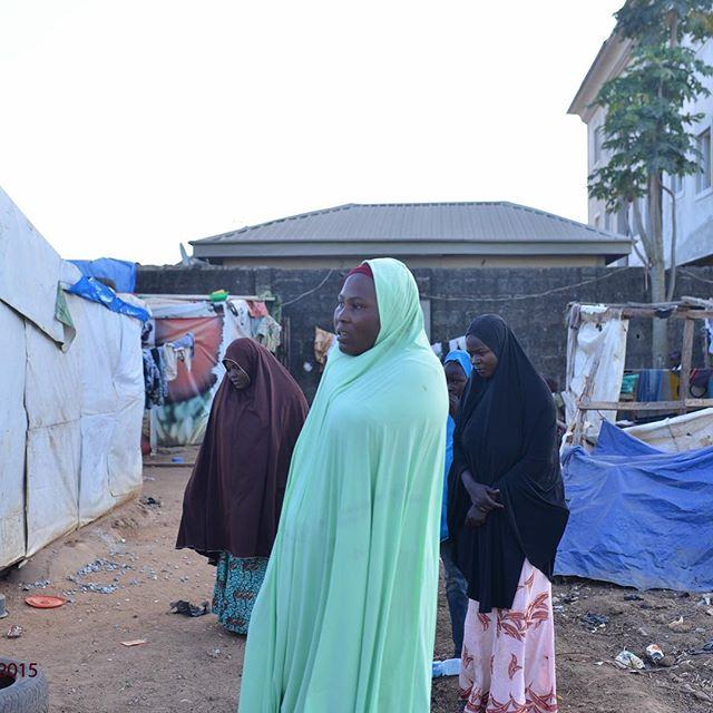Yesterday I had the opportunity to visit an IDP camp in Abuja where many of the #bringbackourgirls came to. I remember seeing the #bringbackourgirls movement on social media but seeing it in person was a much different experience. I was able to listen to this mothers story of her journey from Northern Nigeria. It was very heartbreaking to hear and to see their living conditions. She said when it rains they have no choice but to stand and there is little to no work for her husband. I told her I admire her for her strength and I will pray for her and her family everyday. This was a very humbling experience for me-I cried at the thought of ever complaining about anything in life. It is unfortunate but I know God will protect them. We can not save the world but we can take small steps to help #WithLove - Photo by George Okoro
