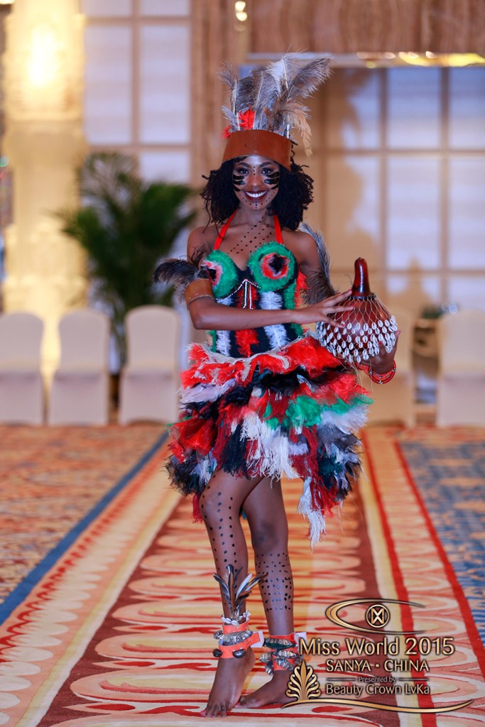 See The African Queens At Miss World 2015 In Their Traditional Dance  Costumes