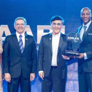 Roberta Naicker of ABN, Michael Kloss, Asher Bohbot & Segun Agbaje of GT Bank