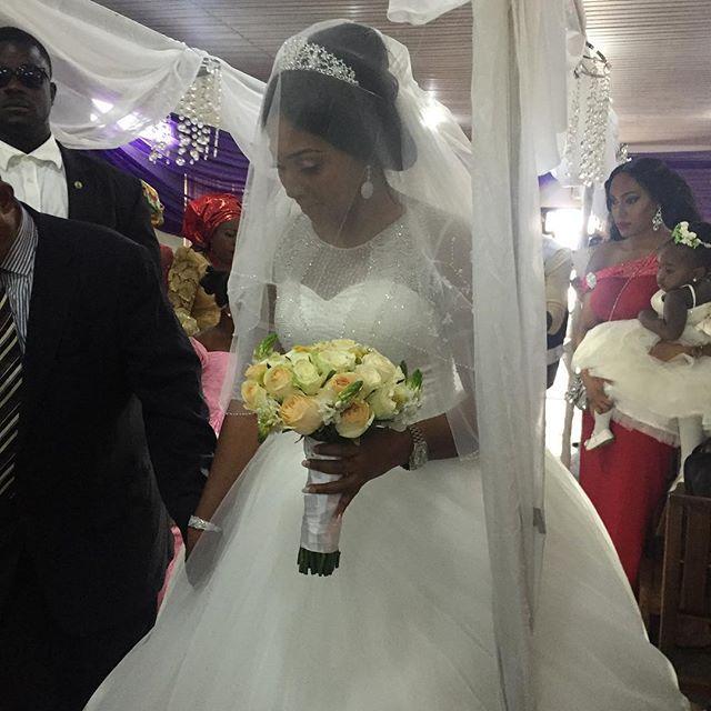 Lilian Esoro & Ubi Franklin White Wedding 17