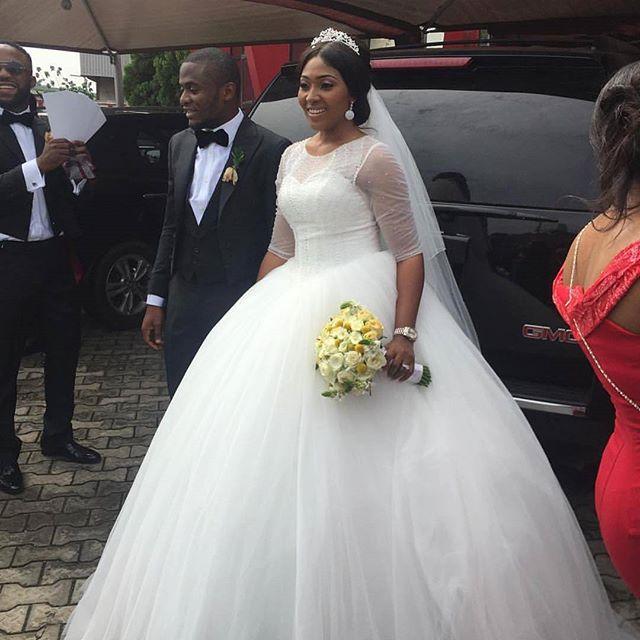 Lilian Esoro & Ubi Franklin White Wedding 27
