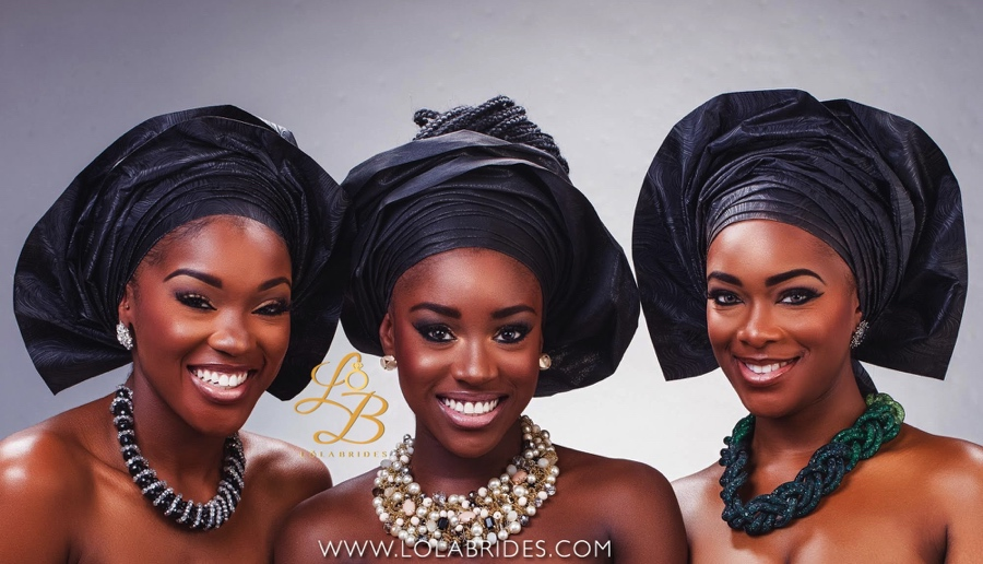 Lola Brides_BlackGroup_4_on BellaNaija Weddings 2015 - Nigerian brides