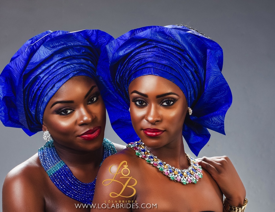 Lola Brides_BlueGroup_1_on BellaNaija Weddings 2015 - Nigerian brides