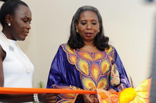 Mrs Awosika & Tara Fela Durotoye as they cut the ribbon