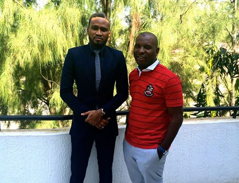 Mustapha (in red) with Ohimai