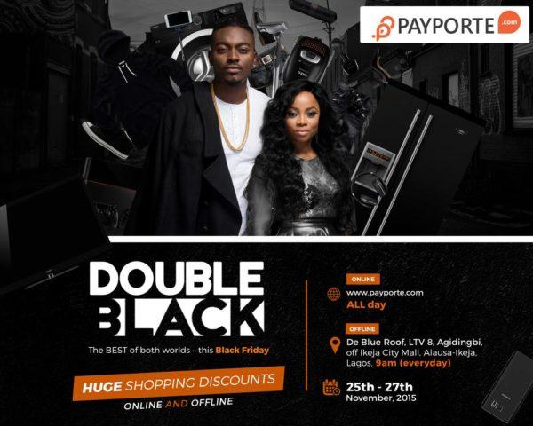 PP Double Black Banner 10 x 8